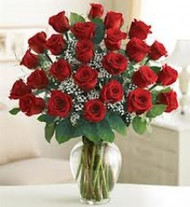 Classic Red Roses In A Vase