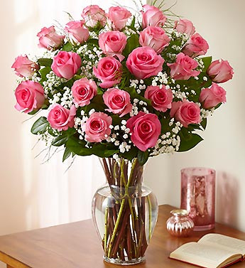 Gorgeous Pink Roses In a Vase