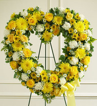 Always Remember Floral Heart Tribute [Yellow]