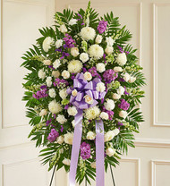 Lavender Deepest Sympathies Standing Spray Funeral Flowers