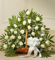 Sincerest Sympathies Fireside Basket Funeral Arrangement
