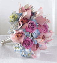 Orchid and Hydrangea Wedding Bouquet