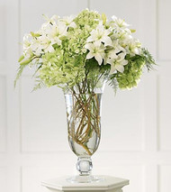 Lilies and Hydrangea Altar Arrangement