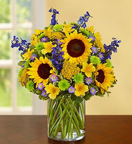 Radiant Sunflowers And Lavender