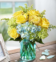 Bright Yellow Coastal Garden Arrangement