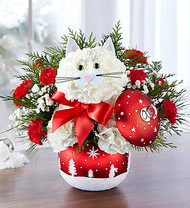 Fabulous Feline in Starry Night Ornament