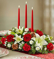 Traditional Holiday Centerpiece for Kiwanis