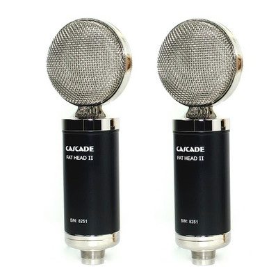 Cascade FAT HEAD II Stereo Pair Black / Silver Lundahl Microphones