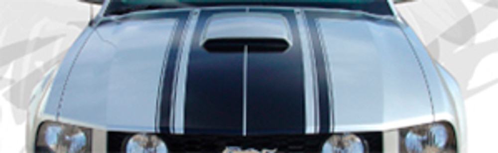 05-09 Ford Mustang Fastback 2 Graphic & Decal Kit With Hood Scoop Close Up