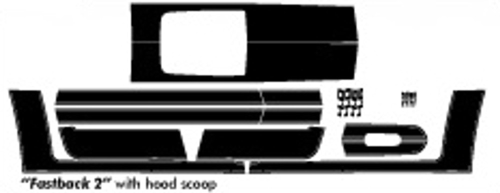 05-09 Ford Mustang Fastback 2 Graphic & Decal Kit With Hood Scoop Diagram