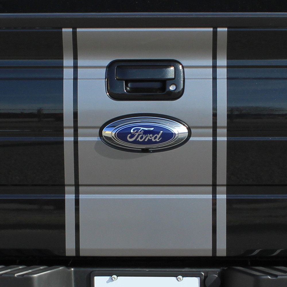 2009 2010 2011 2012 2013 2014 2015 2016 2017 Ford F-150 Center Vinyl Racing Stripes Graphic Kit Tailgate
