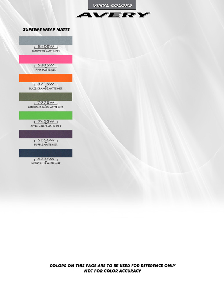 Avery Color Chart Page 4