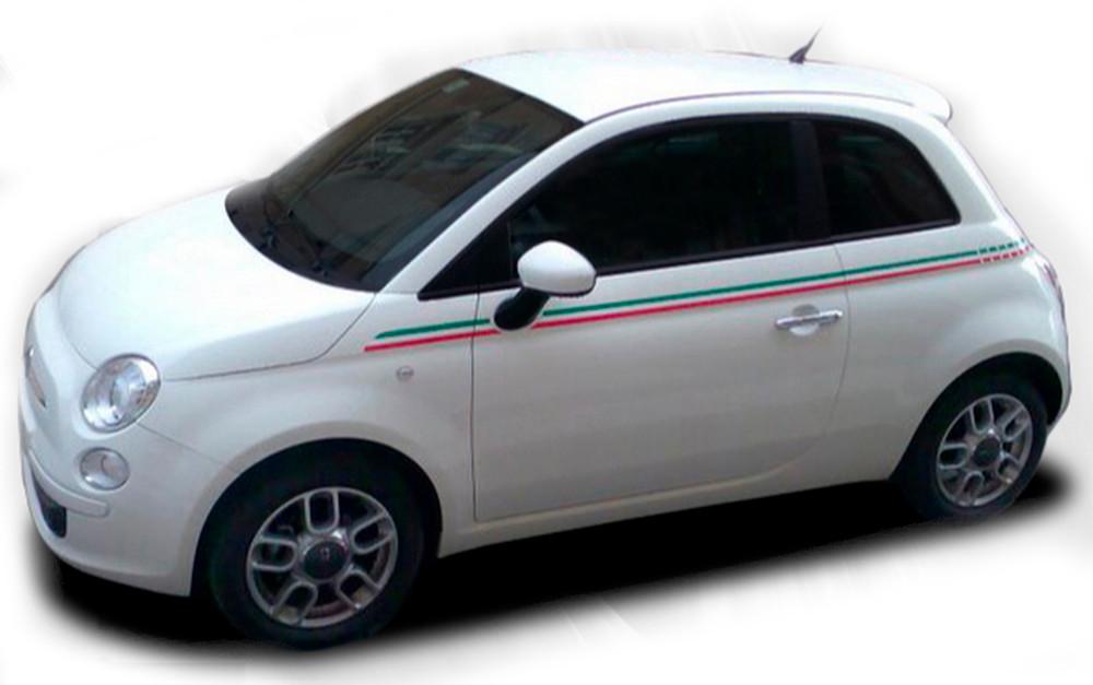 2011-2016 Fiat 500 Italian Side Stripe