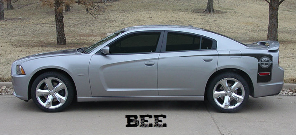 2011-2014 Dodge Charger Hockey Rear Graphic Kit