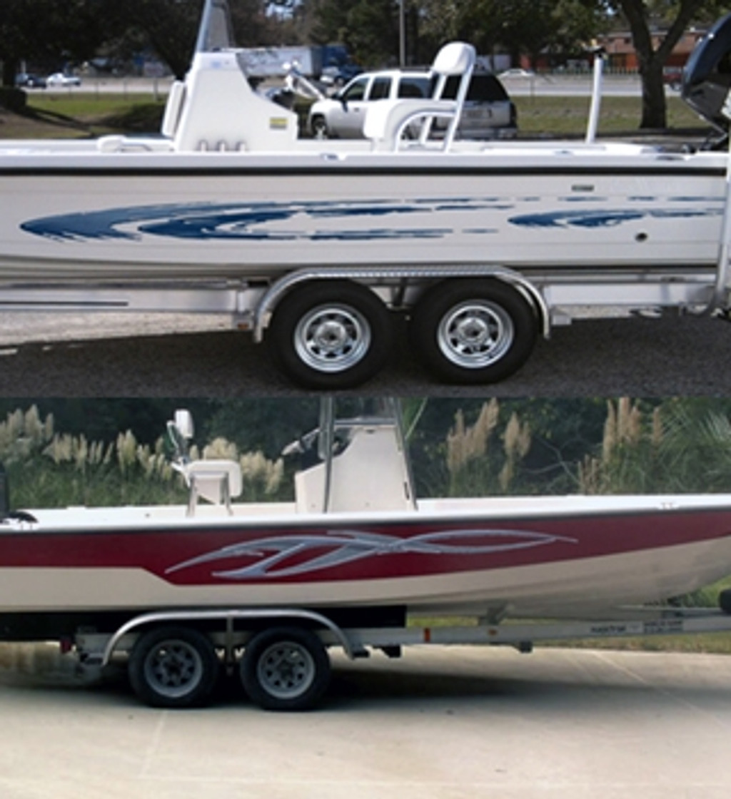 Find Boat Decals And Graphics Kits At Stripeman Fishing Boat - Boat decal graphics