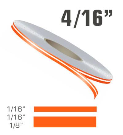 "4/16"" x 150' Double Line Single Color Vinyl Pinstripe Roll"