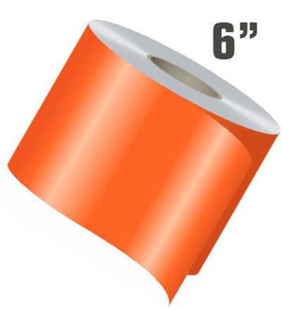 "6"" Wide Single Line Single Color Vinyl Stripe Roll"