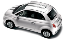 11-15 Fiat 500 Checkered Rally Graphic Kit