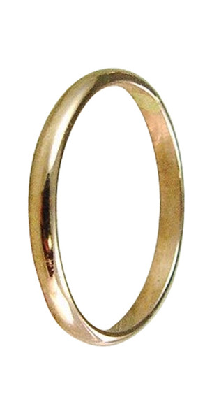 14k gold plain wedding band thumb ring