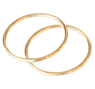 14k gold 1mm double bands toe ring