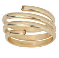 14k gold coil yoga swirl toe ring