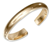 14kt gold 3mm toe ring