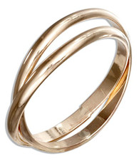 14kt gold Filled rolling thumb ring