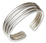 Sterling silver thin bands ring