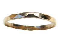14k gold faceted toe ring