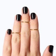 Above the knuckle, half way rings, midi rings