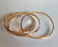 Gold Rolling Thumb Ring