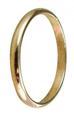 14k gold plain wedding band toe ring