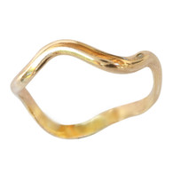14k gold wave band toe ring