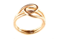 14k gold double loop toe ring