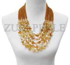 Zuri Perle  citrine handmade necklace african inspired nigerian jeweler