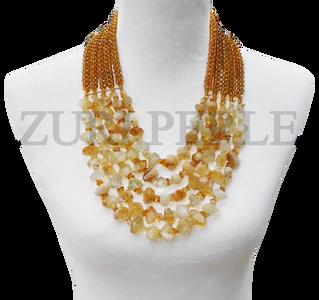 Zuri Perle  citrine handmade necklace african inspired nigerian jeweler