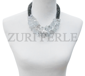 Zuri Perle  quartz wedding necklace handmade necklace african inspired nigerian jeweler