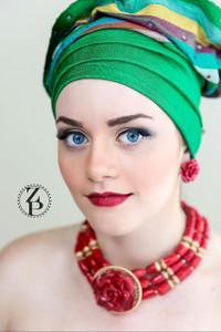 Zuri Perle  onyx handmade necklace african inspired nigerian jeweler