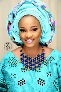 Zuri Perle Chic Quality Timeless Lapis Handmade  Necklace African Inspired Nigerian Designer