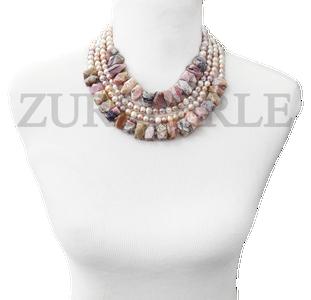 Zuri Perle  pink opal handmade necklace african inspired nigerian jeweler