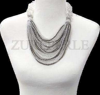 Zuri Perle  quartz handmade necklace african inspired nigerian jeweler