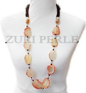 Zuri Perle Agate Carnelian and Crystal Handmade necklace African Inspired Jewelry Nigerian Jeweler