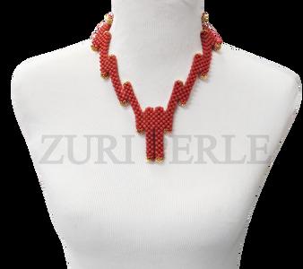 Zuri Perle  coral handmade necklace african inspired nigerian jeweler