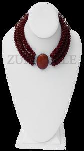 Chic, unique brown chord  necklace designed and handmade at the Zuri Perle Studio in Missouri, U.S.A