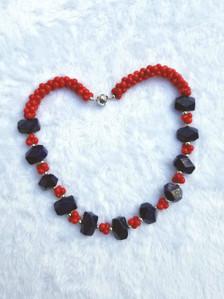 Zuri Perle Coral Lapis Handmade necklace African Inspired Jewelry Nigerian Jeweler