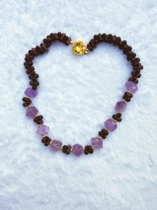 Zuri Perle Amethyst Handmade necklace African Inspired Jewelry Nigerian Jeweler