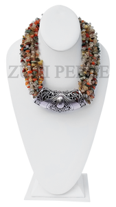 Zuri Perle  rutilated quartz handmade necklace african inspired nigerian jeweler