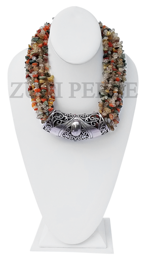 Zuri Perle  rutilated quartz handmade necklace african inspired nigerian jeweler