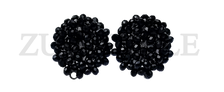 Zuri Perle black crystal handmade earrings african inspired nigerian jeweler