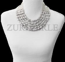 Zuri Perle  howlite handmade necklace african inspired nigerian jeweler